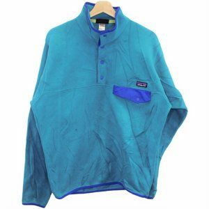 Q16 Patagonia Better Sweater Teal Snap Button Teal